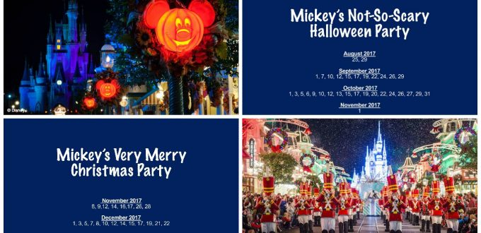disney has released the dates for mickeys not so scary halloween party and mickeys very merry christmas party for 2017 - Halloween And Christmas