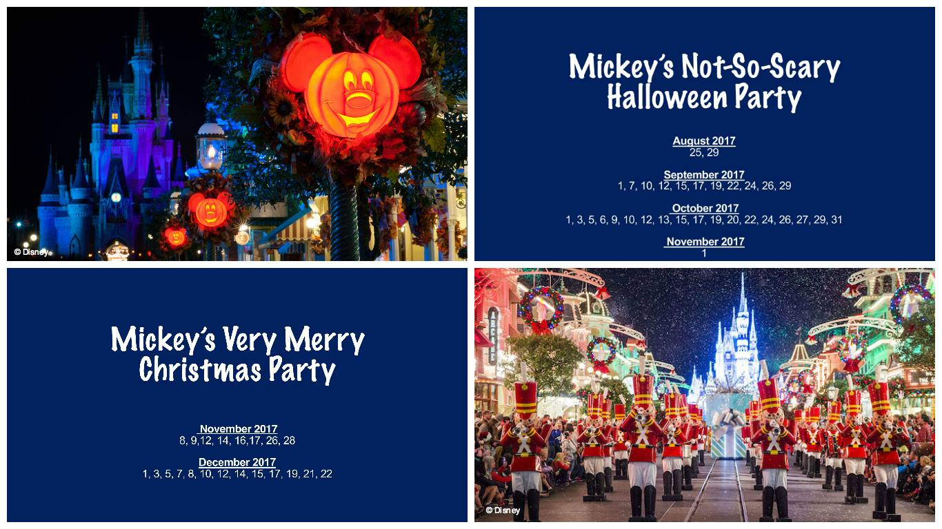 Disney Holiday Parties For 2017 Announced Family Getaways